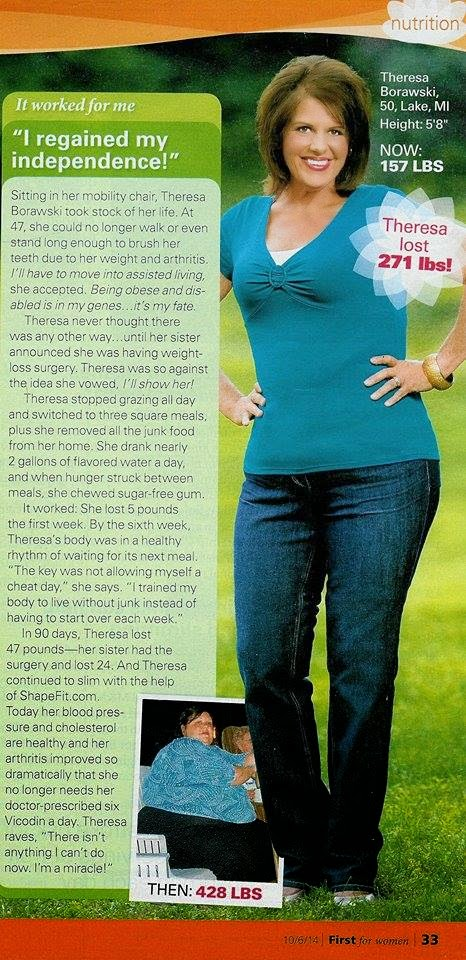 Theresa in FIRST for Women magazine