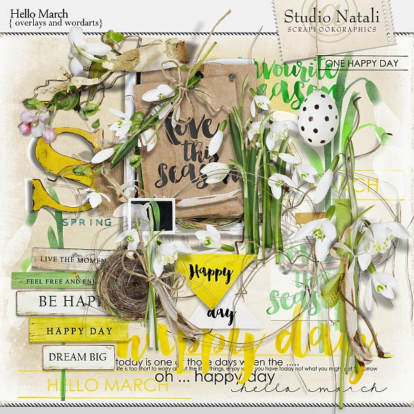 Hello March Overlays