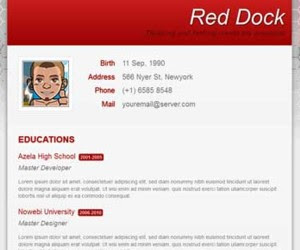 Red Dock Blogger Template