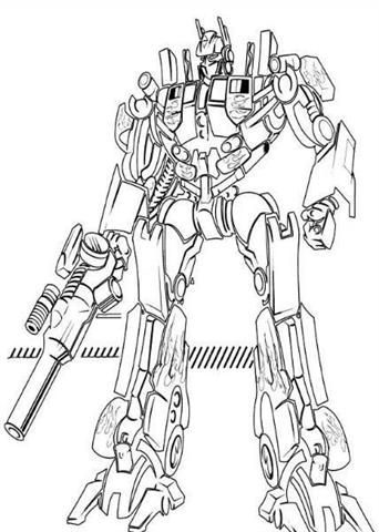 Transformer Coloring Activity Books Clipart Pictures Sheet