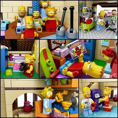 'Los Simpson' se mudan a una casa LEGO