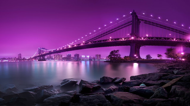 Puente de Brooklyn Manhattan en New York City