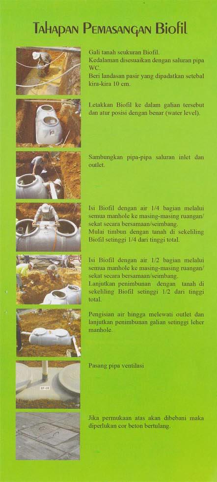 cara pasang septic tank biofil, sni, biotank, septic tank modern, induro, megacell, stp, ipal, ramah lingkungan