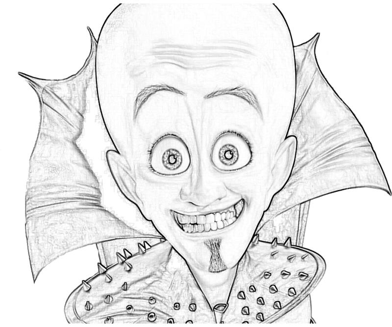 Megamind coloring pages coloring pages for Megamind coloring pages