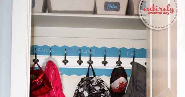 DIY Closet Turned Mudroom {IKEA Hack}