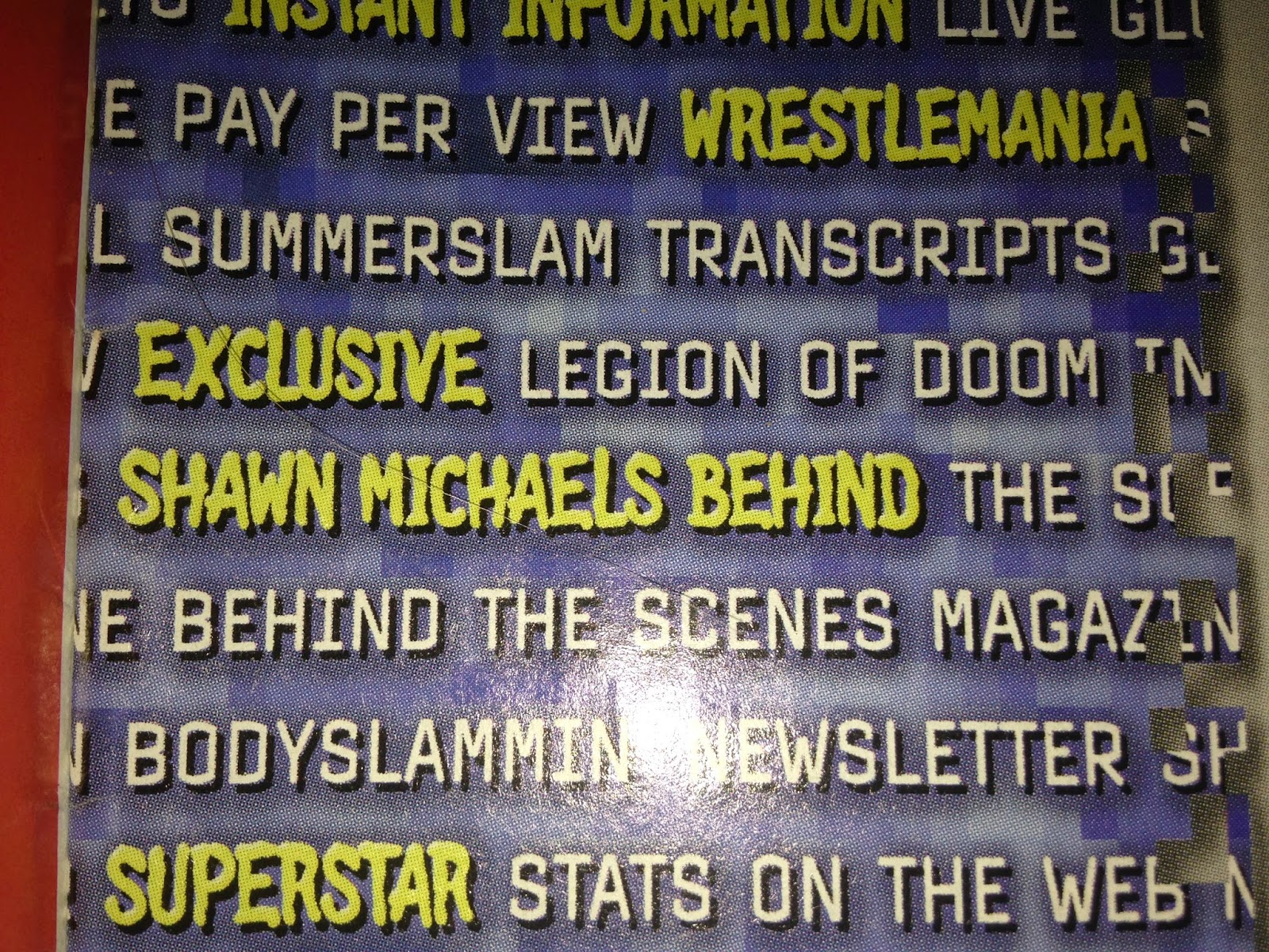 WWE - WWF Raw Magazine - January 1998 - Look at Shawn Michael's ass online
