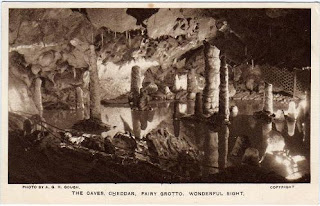 Vintage postcard of the Fairy Grotto, Cheddar Caves, Somerset