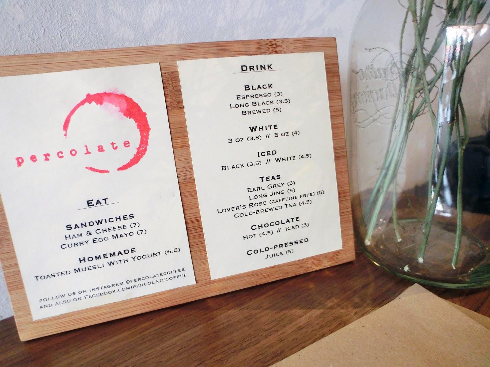 simple cafe menus