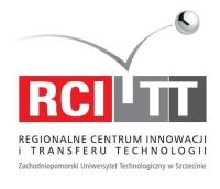 Logo Regionalnego Centrum Innowacji i Transferu Technologii Zachodniopomorskiego Uniwersytetu Technicznego w Szczecinie