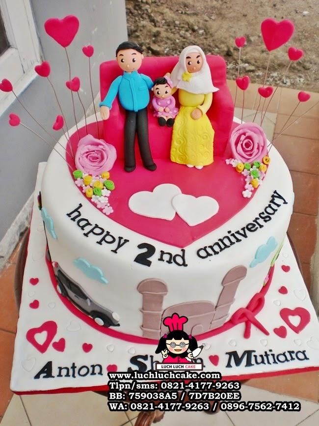 Kue Tart Roamantis Anniversary Pernikahan Daerah Surabaya - Sidoarjo