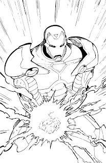 Desenhos do Homem de Ferro para imprimir e colorir