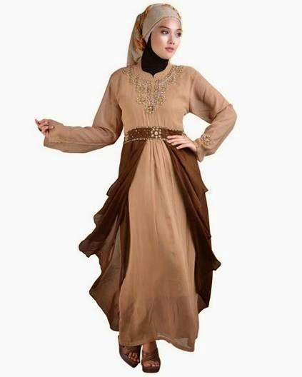 Contoh model baju muslim kebaya modern sederhana