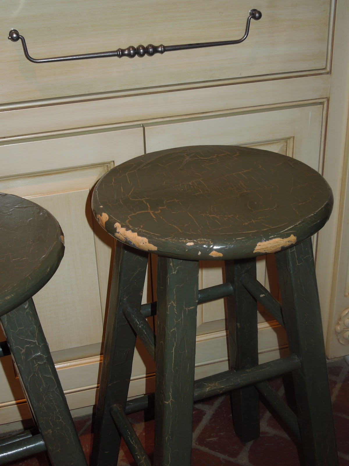 The French Tangerine Kitchen Stools