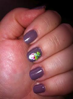 nail art world  gallery of nail design ibd smokey plum