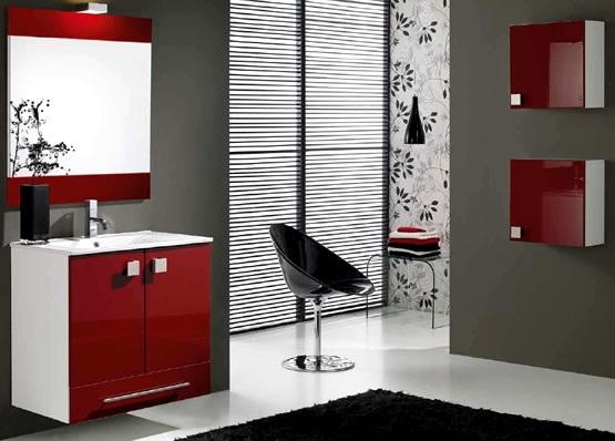 Kirmizi Beyaz+banyo+dolap+modelleri Banyo Dekorasyonuna Özel Tasarımlar Eklendi