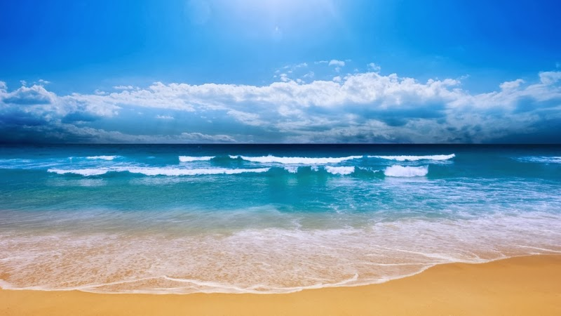 Sand sea waves Beautiful Nature Images And Wallpapers