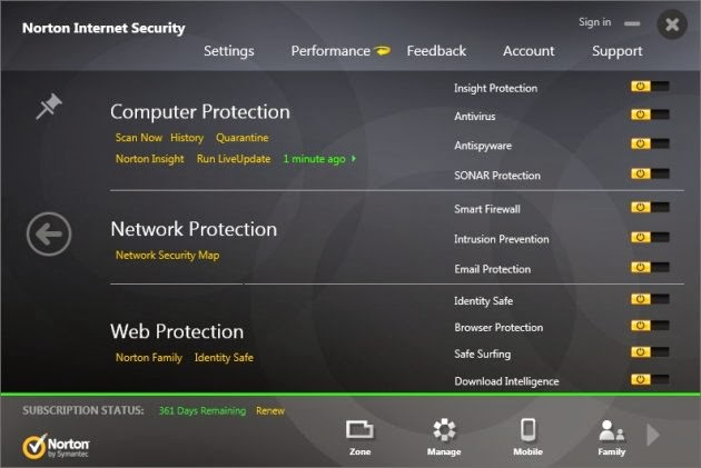 Norton Internet Security 2014 - Protection Features