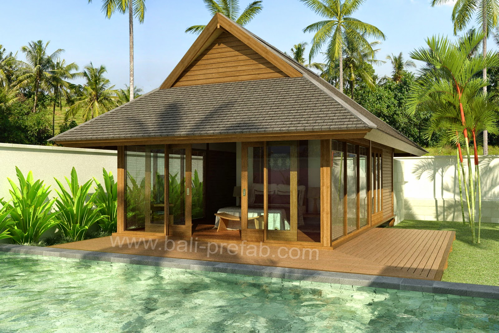 Wooden house for Prefab tropical homes