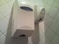 Kitai - Dispenser sem sabonete nem papel toalha.