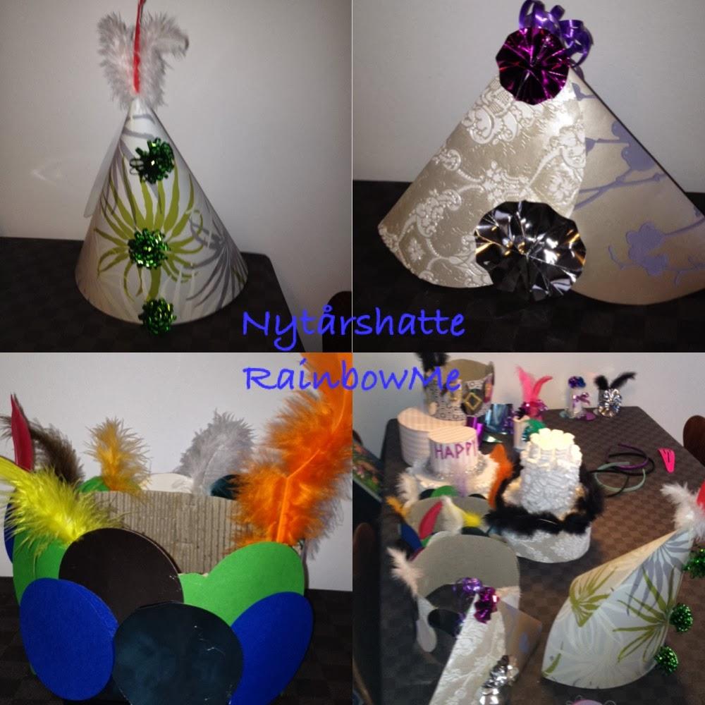 RainbowMe.: Nytårshatte DIY / Genbrug.