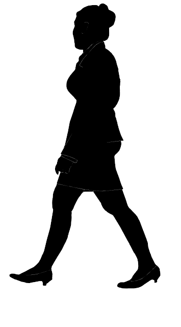 silhouette of an airline officer in uniform