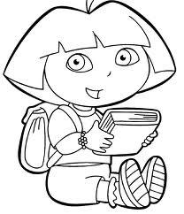 coloriages dora gratuits a telecharger ou imprimer - Coloriage En Ligne Gratuit Dora