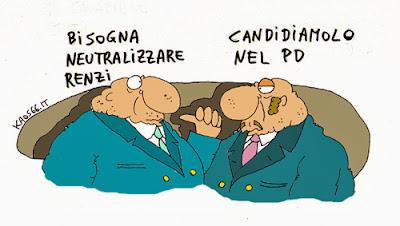 vignetta: neutralizzare Renzi Matteo