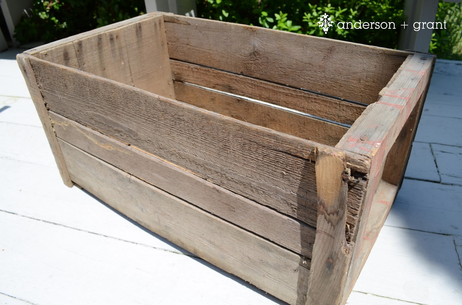 Distressed pumpkin crate for fall anderson grant for Where to find old wooden crates