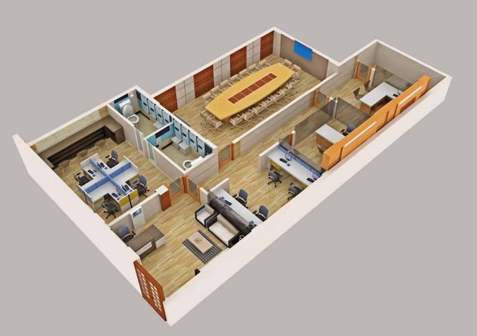 Office Floor Plan 3d 3d Floor Plan House 100