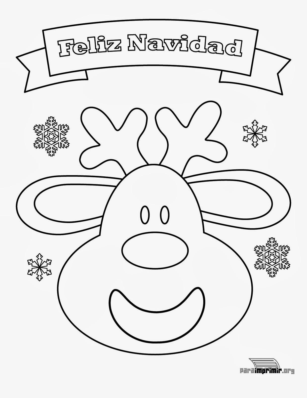RELIGICANDO EN EL COLE: Ficha para colorear: Feliz Navidad.