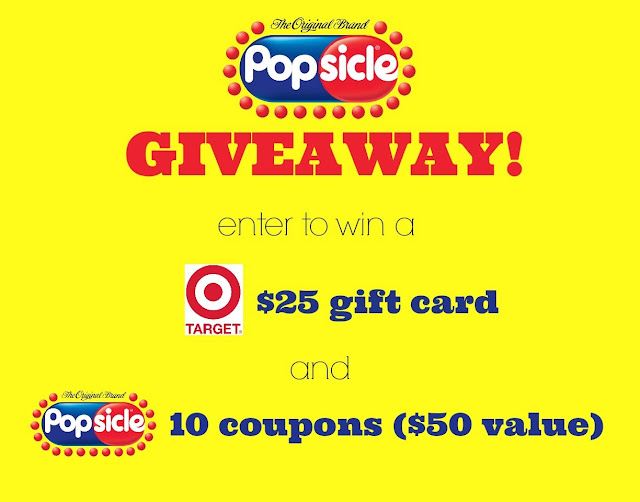 Enter to win a $25 Target gift card and @Popsicle coupons; giveaway ends Nov 5