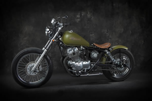biker excalibur II  Army Green Honda Rebel 250 by Blue Collar Bobbers