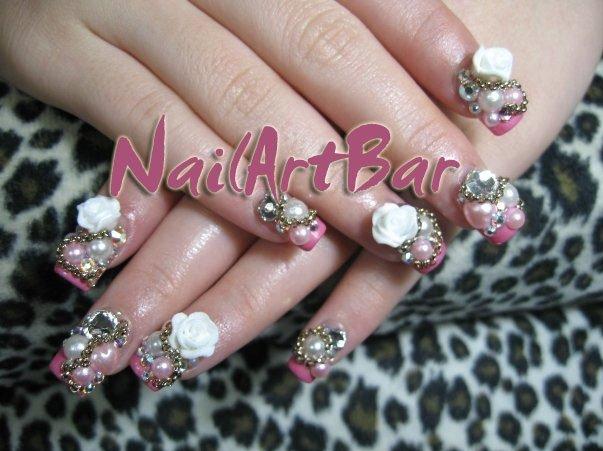 Something like glamour 3d nail art