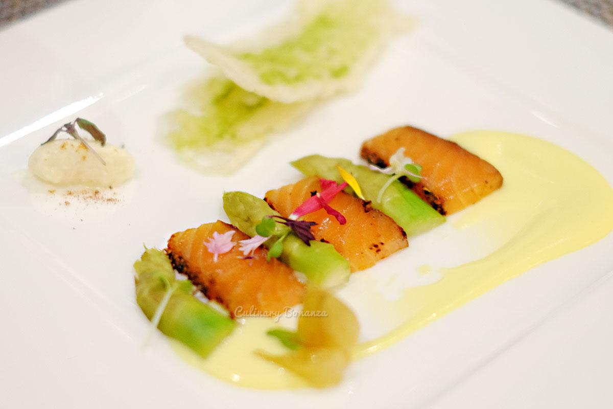 Salmon Pastrami, Asparagus Salad & Parmesan Dressing (www.culinarybonanza.com)