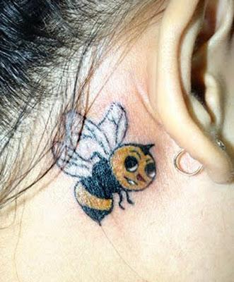 Bees for Women Tattoo Tattoo Lebah custom tattoo bee girl put behind the