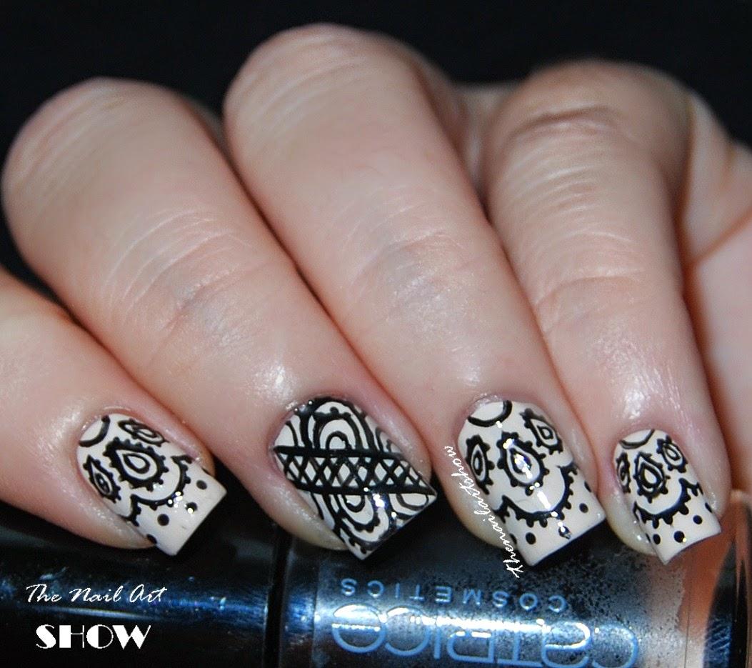 The Nail Art Show: Born Pretty Store Review, Black Lace Nail Art