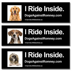 Official Dogs Against Romney Bumper Stickers and Magnets