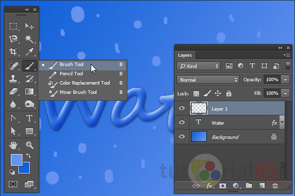 Cara membuat tulisan efek air dengan photoshop | Tutorial89