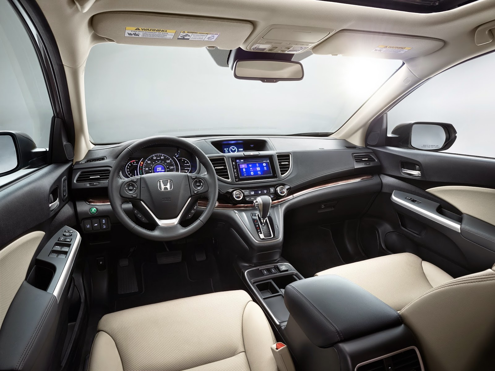 Interior view of 2015 Honda CR-V Touring