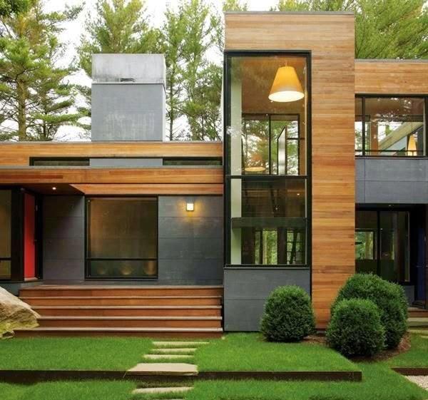 desain model rumah modern kayu idaman ala jepang mewah