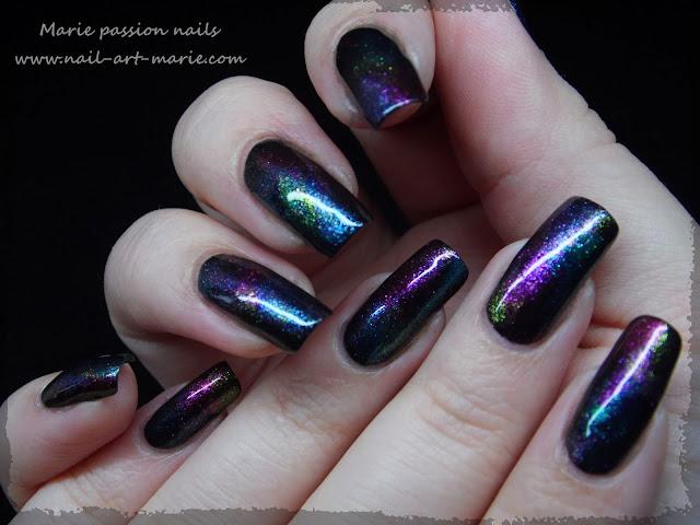 Nail art aurore boréale1