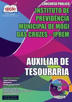 NOVO Concurso IPREM - Mogi das Cruzes AUXILIAR DE TESOURARIA 2015