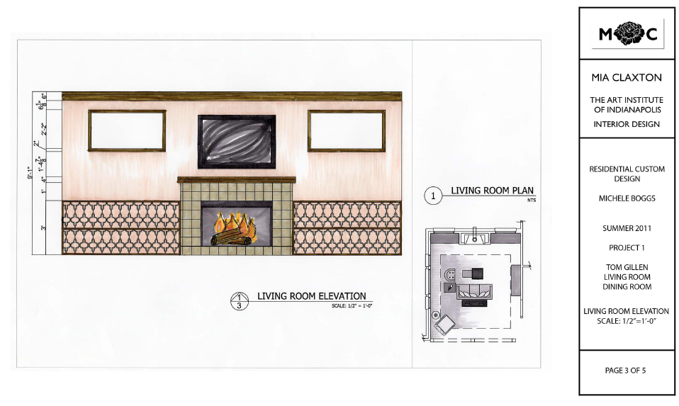 Aim to design thomas o 39 brien inspired living room and for Dining room elevation