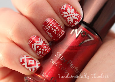 Fundamentally Flawless: Christmas jumper nails