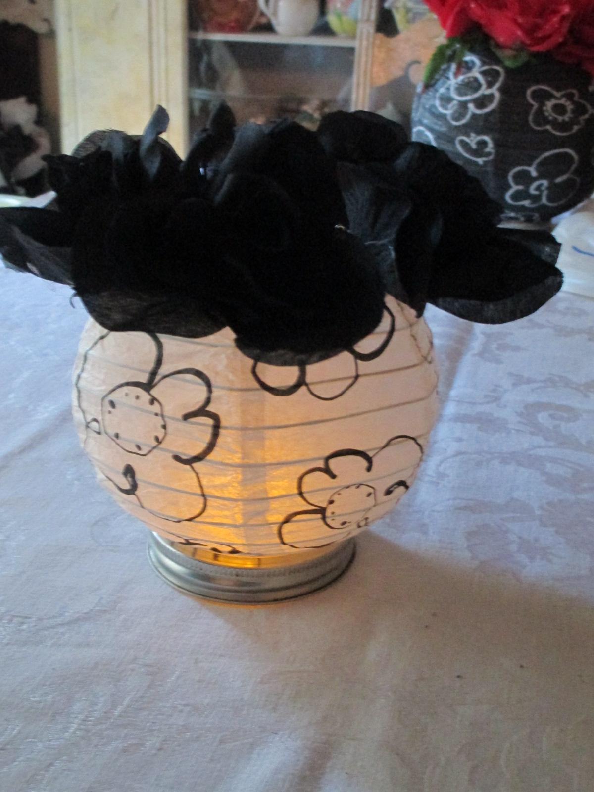 Gina Reynolds Paper Lantern Centerpieces