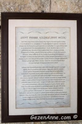 Hristiyanlığın ilk kiliselerinden biri olarak geçen St Pierre kilisesi anlatımı, Hatay
