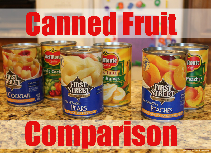 Kids Activity – Comparing Canned Fruit