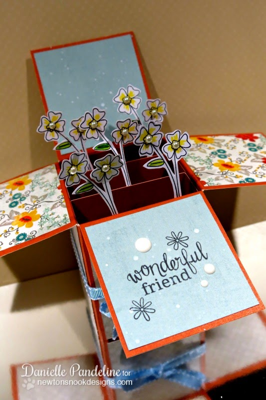 3D Flower Box Card | Featuring Newton's Nook Designs Stamps | Created by Danielle Pandeline