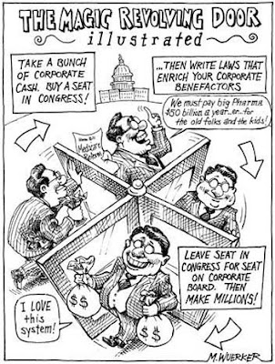 revolving door, politicians, lobbyists, corporations