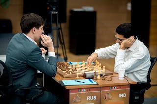 Nulle de combat entre Viswanathan Anand et Dmitry Andreikin lors de la ronde 12 - Photo © site officiel